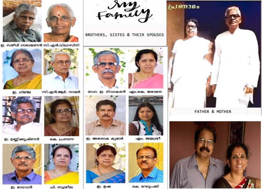 E. Harikumar's Brothers, Sisters and their Spouses.