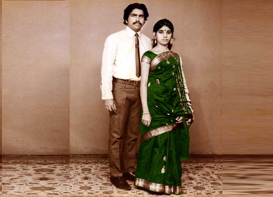 With wife Lalitha Snap taken in 1972
