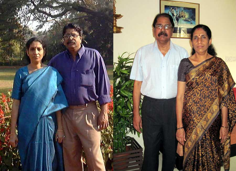 With wife Lalitha during a visit to Bangalore in 2001 & 2011