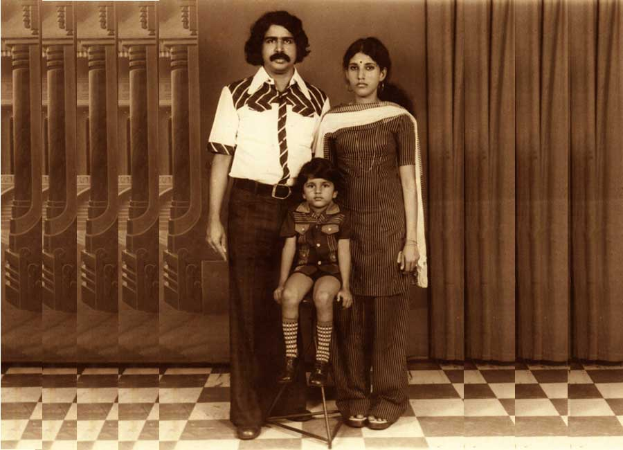 With wife Lalitha and  son Ajay in 1977