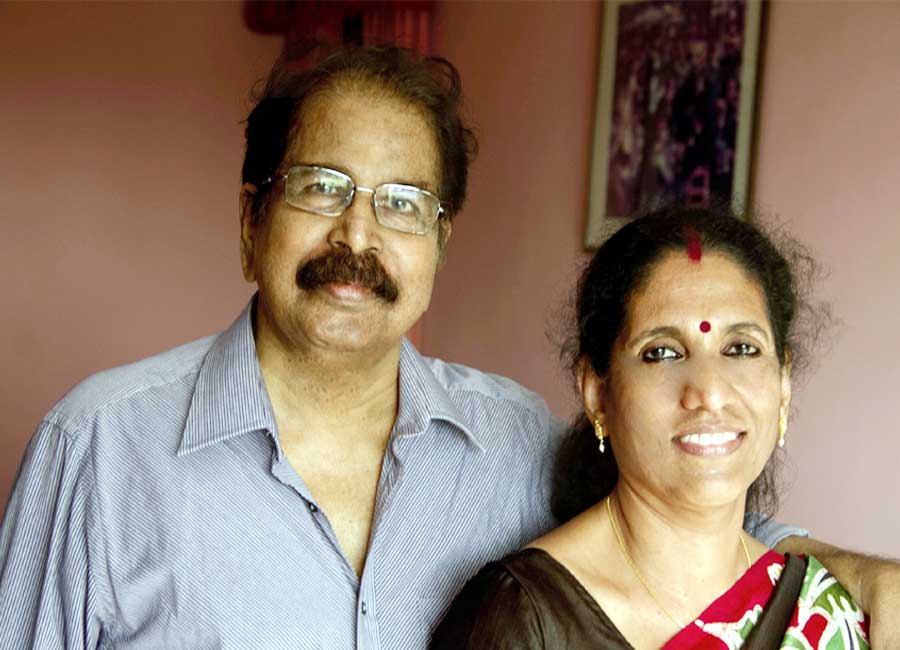 With wife Lalitha in 2011