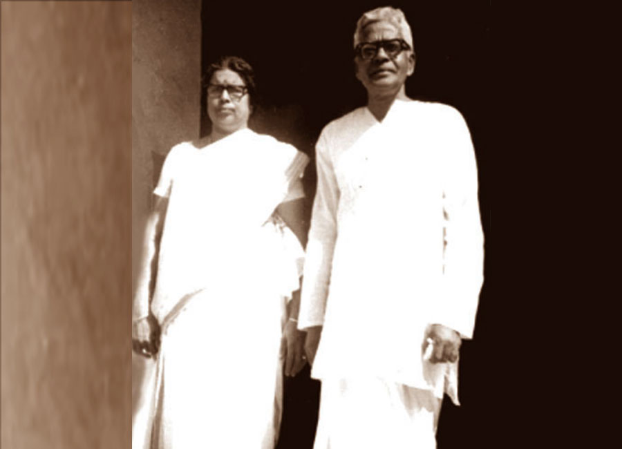 Father and Mother: Edasseri Govindan Nair, a well-known poet and playwright, and E. Janaki Amma, who in her early years had written poems and stories and translated Tagore's Fruit Gathering into Malayalam.